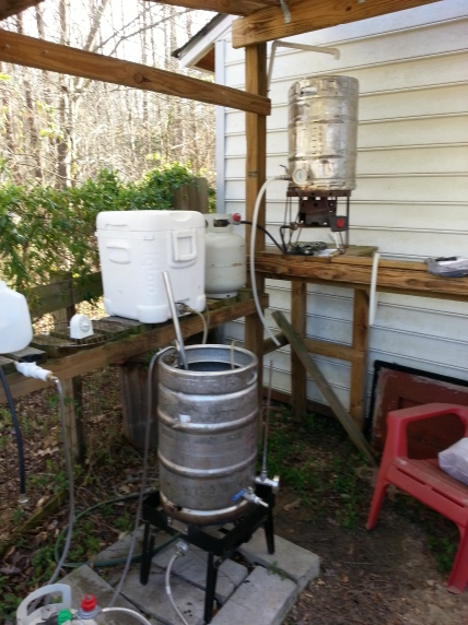 gravity fed brewing station