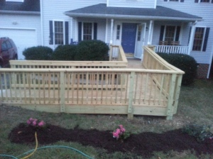 picture of our wheelchair ramp